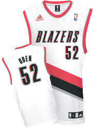 Greg Oden Portland Trailblazers #52 Adidas XL White Home Jersey