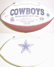 Dallas Cowboys Rawlings Jarden Sports Signature NFL Full Size Fotoball Football Current Version - BLOWN UP with BOX & PEN