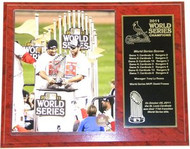 Albert Pujols & Lance Berkman St. Louis Cardinals 2011 World Series Champions 12x15 Plaque