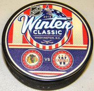 2015 Winter Classic NHL Dueling Chicago Blackhawks vs. Washington Capitals Autograph Hockey Puck