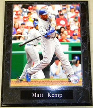Matt Kemp Los Angeles Dodgers MLB 10.5 x 13 Plaque