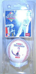Cole Hamels Philadelphia Phillies 2008 World Series MVP Rawlings Official Collectible Major League Baseball