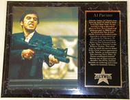 Al Pacino Scarface 15 x 12 Movie Plaque - alpacinopl5