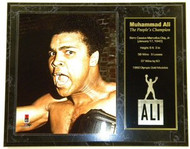 "Muhammad Ali ""The People's Champion"" Custom 12x15 Boxing Plaque"