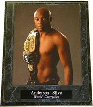 Anderson Silva UFC MMA World Champion 10.5x13 Plaque
