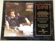 Al Pacino Scarface 15 x 12 Movie Plaque - alpacinopl6