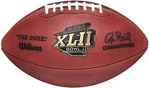 Super Bowl 42 Xlii Wilson Official Nfl Game Football New England