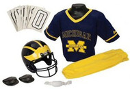 Michigan Wolverines Franklin Deluxe Youth / Kids Football Uniform Set - Size Small