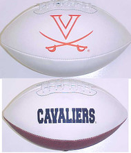 Virginia Cavaliers Rawlings Jarden Sports Signature NCAA Full Size Fotoball Football - BLOWN UP with BOX & PEN