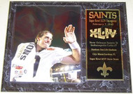 Drew Brees New Orleans Saints Super Bowl 44 XLIV Champions 15x12 Plaque - drewbreespl10