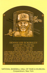 Dennis Eckersley Oakland Athletics A's Hall Of Fame Postcard