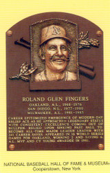 Rollie Fingers Oakland Athletics A's Hall Of Fame Postcard