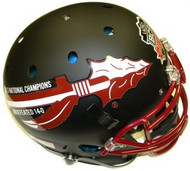 Florida State Seminoles 2013 National Champions Undefeated 14-0 BLACK Schutt NCAA College Football Team Full Size Authentic XP Helmet