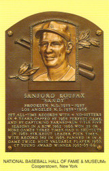 Sandy Koufax Dodgers Hall Of Fame Postcard