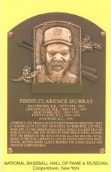 Eddie Murray Orioles Hall Of Fame Postcard