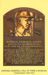 Warren Spahn Braves Hall Of Fame Postcard