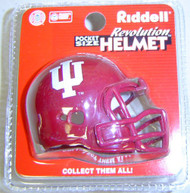 Indiana Hoosiers NCAA Riddell Pocket Pro Helmet with Red Mask