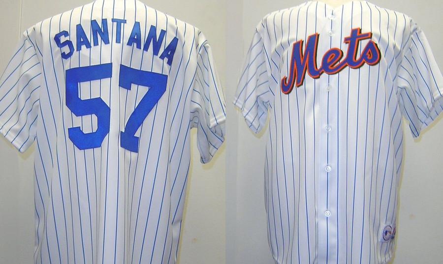 purchase cheap 2e431 b2483 Johan Santana New York Mets Majestic Home Custom XL Jersey ...