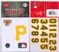 Pittsburgh Pirates Official Rawlings Authentic Batting Helmet Decal Kit