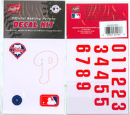 Philadelphia Phillies Official Rawlings Authentic Batting Helmet Decal Kit