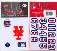 New York Mets Official Rawlings Authentic Batting Helmet Decal Kit