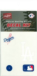 Los Angeles Dodgers Official Rawlings Authentic Batting Helmet Decal Kit