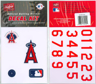Los Angeles Angels Of Anaheim Official Rawlings Authentic Batting Helmet Decal Kit