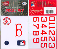 Boston Red Sox Official Rawlings Authentic Batting Helmet Decal Kit