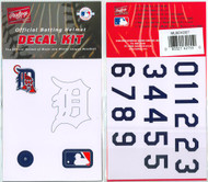 Detroit Tigers Official Rawlings Authentic Batting Helmet Decal Kit