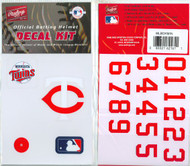Minnesota Twins Official Rawlings Authentic Batting Helmet Decal Kit