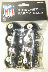 Pittsburgh Steelers NFL Football Riddell 8 Gumball Helmet Party Pack Set