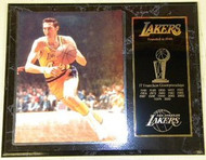 Jerry West Los Angeles Lakers Franchise History 12x15 17 NBA Championships Plaque