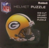"Green Bay Packers Riddell NFL 16""x16"" Helmet Puzzle 100 Pieces"