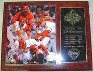 Philadelphia Phillies 2008 World Series Champions MLB 15x12 Plaque - PLAQUE-2008WSC10