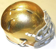 Notre Dame Fighting Irish GOLD HYDROFX Riddell NCAA Replica Revolution SPEED Mini Helmet
