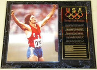 Bruce Jenner Team USA Olympic Games 15x12 Gold Medal Plaque