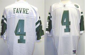 dd6a98e7 Brett Favre New York Jets Custom White Reebok Licensed Mesh Souvenir ...