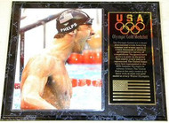 Michael Phelps Team USA 2008 Olympic Games 15x12 Gold Medal Plaque