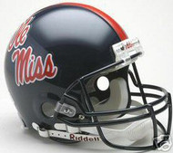 Mississippi Ole Miss Rebels Riddell NCAA Collegiate Authentic Pro Line Full Size Helmet