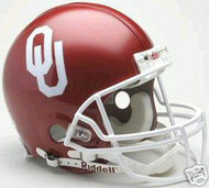 Oklahoma Sooners Riddell NCAA Collegiate Authentic Pro Line Full Size Helmet