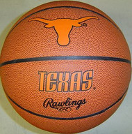 Texas Longhorns NCAA Rawlings Tip Off Full Size Basketball