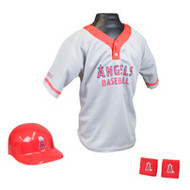 Los Angeles Angels of Anaheim Franklin Youth MLB Kids Team Helmet, Jersey & Wristband Set