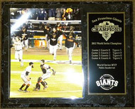 Buster Posey & Sergio Romo San Francisco Giants 2012 World Series Champions Team Celebration 12x15 Plaque