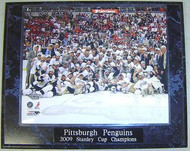 Pittsburgh Penguins 2009 NHL Stanley Cup Champions 10.5x13 Plaque - 2009cupp9a
