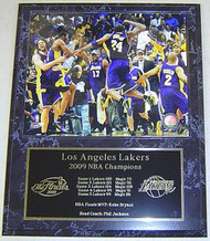 Los Angeles Lakers 2009 NBA World Champions 12x15 Plaque