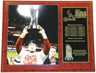 David Freese St. Louis Cardinals 2011 World Series Champions & MVP 12x15 Plaque