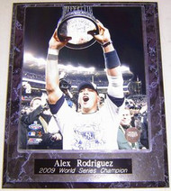 Alex Rodriguez New York Yankees 2009 World Series Champion 10.5x13 Plaque