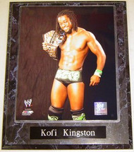 Kofi Kingston WWE Wrestling United States Champion 10.5x13 Plaque
