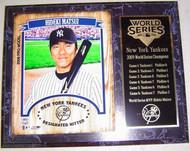 Hideki Matsui MVP New York Yankees 2009 World Series Champions 12x15 Plaque