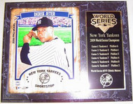 Derek Jeter New York Yankees 2009 World Series Champions 12x15 Plaque